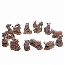Bộ tượng 12 con giáp, cao 22 cm