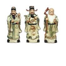 Tượng Phúc Lộc Thọ - men rạn cổ -  cao 55 cm