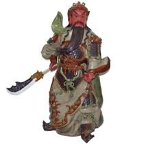 Tượng Quan Công mặt hồng - Men Rạn - Cao 60cm